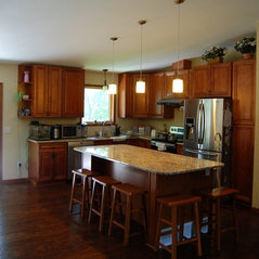 walnut color kitchen