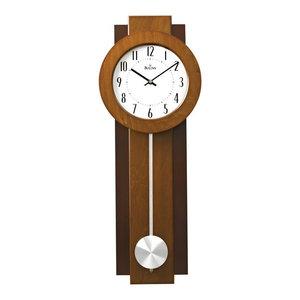 Bulova Avent Modern Pendulum Wall Clock, Dual Finish, Aluminum Pendulum