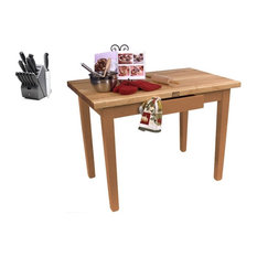 John Boos Maple Classic Country 60x36 Table And 13 Piece Henckels Kife Set