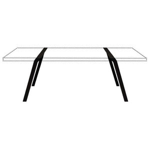 Steel Trestle Table Supports, 75x74 cm, Black
