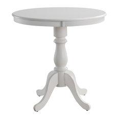 Fairview 36-inch Round Pedestal Bar Table White
