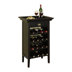 Powell Black With Merlot Rub Through Wine Cabinet And Bar Cabinets