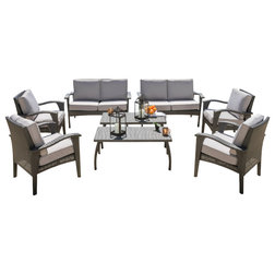 Cute Contemporary Outdoor Lounge Sets by GDFStudio