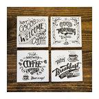 Chalkboard Style Coffee Coaster Set by Del Hutson Designs