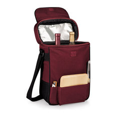 Duet Wine And Cheese Tote, Burgundy