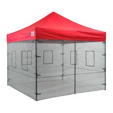 Mesh Sidewall Kit With Food Vendro Windows, 10'x10' Enclosure Kit