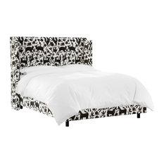 Nicolette Queen Wingback Bed in Pinata Tuxedo