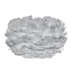 Vita Eos Micro Feather Lamp Shade, Light Grey