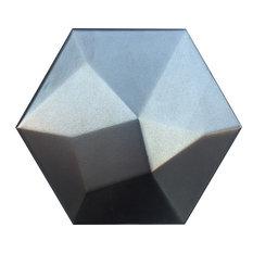 """Code Metallic 6""""x7"""" Ceramic Wall Tile, Set of 20"""