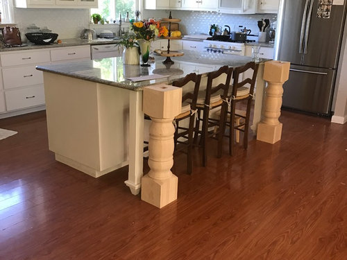 Kitchen Island Leg Size