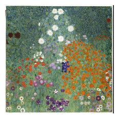 """Flower Garden Painted Wall Mural, 48"""" x 48"""""""