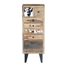 Cow Print Tall Chest of Drawers