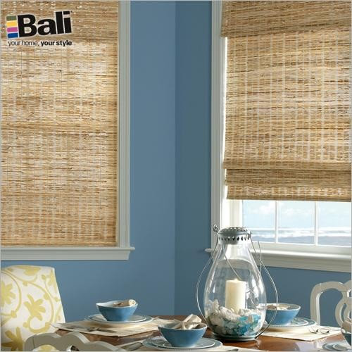 Bali Deluxe Woven Wood Shades From Blinds Com In Grasses Summer Roman Shades