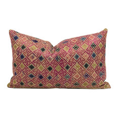 """Hau Chinese Wedding Blanket Pillow, 12""""x20"""", Zipper, Cover Only"""