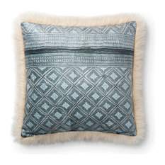 Loloi Multi and Ivory Color 18  x18   Accent Pillow, Poly Fill