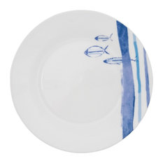 Marine Striped Plates, Set of 6