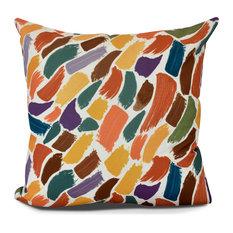 Wenstry, Geometric Print Indoor, Outdoor Pillow, Orange,20 x 20-inch