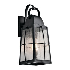 """Kichler 49553 Tolerand Collection 1 Light 17.75"""" Outdoor Wall - Textured Black"""