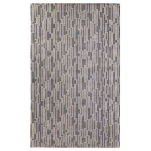 Natural Stitch Hide Linea Chocolate 8 X10 Contemporary Area Rugs By Lifestyle Group Distribution Inc
