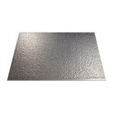"18""x24"" Fasade Hammered Backsplash Panel, Galvanized Steel"