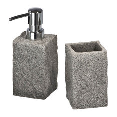 Wenko - Granite 2-Piece Bathroom Accessories Set - Bathroom Accessory Sets