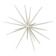 """40"""" White Glittered Starburst Ornament"""