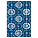 """Kaleen - Kaleen Matira Collection Rug, 7'6""""x9' - Matira is inspired from the absolutely beautiful and breathtaking secluded beaches of Bora Bora. White powdery sand, crystal clear blue waters, and the lush botanical surroundings embrace every aspect of this collection. Each rug is UV protected and handmade with 100% Polypropylene. Complete with our special ��_K-Stop Non-Skid Backing��_, Matira will be your perfect anchor to a magical getaway. Detailed colors for this rug are Navy, Ivory, Teal Blue."""