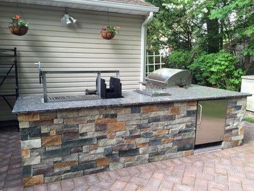 Custom countertop parrilla grill insert for Outdoor kitchen grill insert