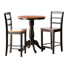 International Concepts   Madrid 3 Piece Round Table And Stool Set   Indoor  Pub And