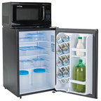 Snackmate By MicroFridge Refrigerator And Microwave Combo, 2.6 Cu Ft., Black