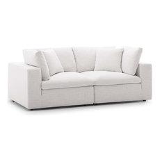 Commix Down Filled Overstuffed 2 Piece Sectional Sofa Set, Beige