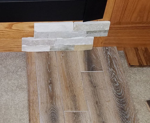 Hardwood Flooring With Existing Golden Oak Trim And Cabinets