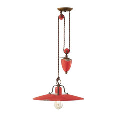 Saturno Rise & Fall Lamp, 1 Light, Red