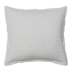 Nana Textured Silk Euro Pillowcase Sham, White