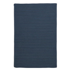 Colonial Mills, Inc - Braided Simply Home Solid, 12', Area Rug, Lake Blue, Square 12' - Outdoor Rugs