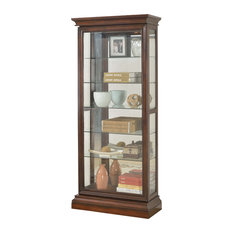 ... Sedona Wood With Glass Curio, Cherry - China Cabinets And Hutches