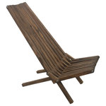 GloDea - GloDea Foldable Outdoor Lounge Chair X45, Espresso Brown - Looking for a portable chair to accompany you to the beach, the pool or your own backyard? The GloDea Foldable Outdoor Lounge Chair is here to support you on your adventures. Featuring an extended slat back, this lounge chair allows for comfortable sunbathing while the low-set frame lets you get that much closer to the sandy shores. The foldable design enables easy transportation and storage, so the GloDea Foldable lounge chair can accompany you wherever your voyage leads.