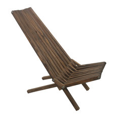 GloDea Foldable Outdoor Lounge Chair X45, Espresso Brown