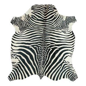 Zeb-Tastic Zebra Rug, White and Black, 170x190 cm
