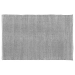 Handwoven Grey Field Cotton Rug, 120x180 Cm