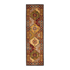 """Mallorca Hand Tufted Rug, Multi/Red, 2'3""""x14'"""