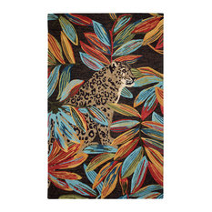 Max Leopard Tufted Area Rug, Multi, 5'x8'