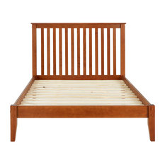 Mission Style Platform Bed, Cherry, Full