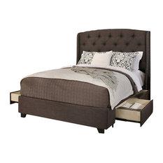 Peyton Upholstered Platform Storage Bed, Grey, Eastern King