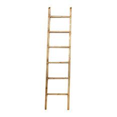 Natural Library Ladder, Waxed Natural