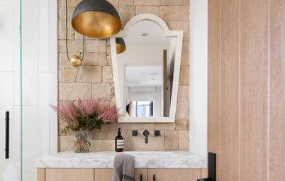 New This Week: 5 Stylish Single-Sink Bathroom Vanity Areas