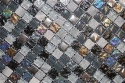 Iridescent Ebony Mosaic - Tile