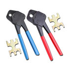 "2 Pex Crimper 1/2"" and 3/4"" Plumbing Crimping With Gono Go Set Angle Gauge Tools"