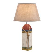Wood Buoy Table Lamp