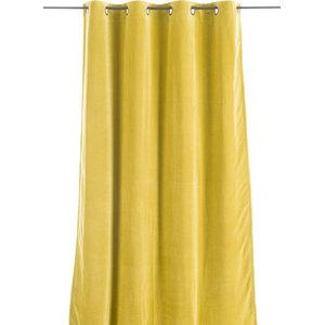 Lyric Velvet Curtain, Yellow